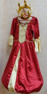 Платье Принцесса в красно-золотом