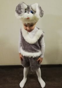 костюм зайца меховой