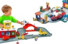Игрушка Fisher-price «Аэропорт» + «Железная дорога» из серии Little People