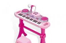 Электронный синтезатор со стулом и микрофоном Winx