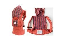 Эргономичный рюкзак для переноски малышей ERGO Baby Organic терракот с полосками